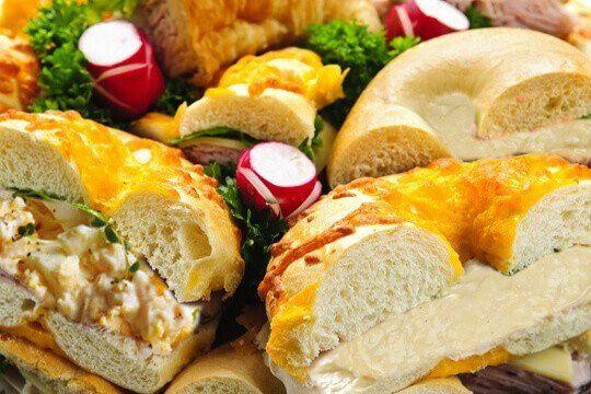 Bagel platter vegetarian